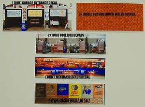 1:64 SCALE KIT OF 9 MUSCLE GARAGE SHOP DECALS+BONUS ROAD WORK 6 PIECES PACK!
