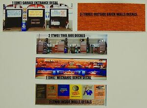 Details about 1:64 SCALE KIT OF 9 MUSCLE GARAGE SHOP DECALALS