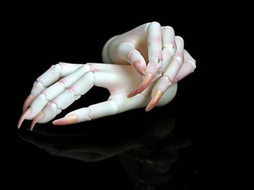 bjd female long nails hands jointed hands no veins for 1//3 female Dolls