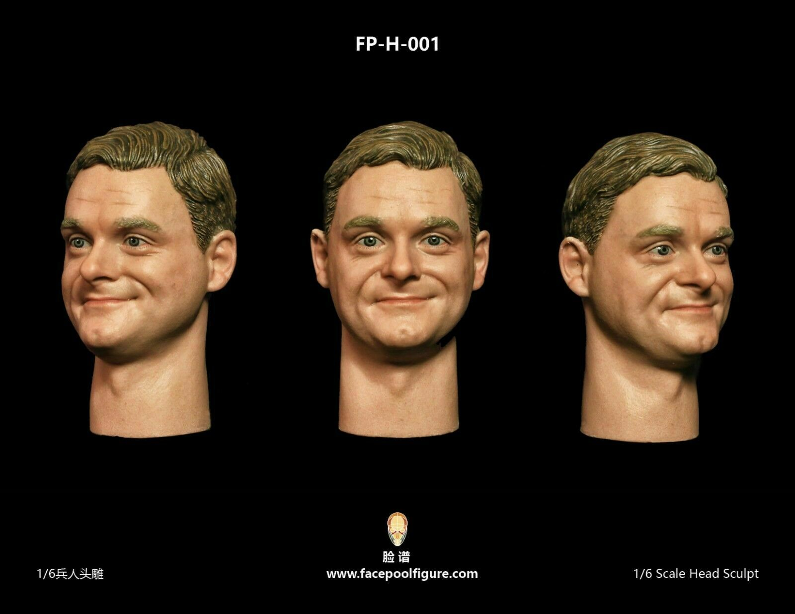 1 6 Facepoolfigure Head Sculpt W Smile Expression FP-H-001 Fit 12'' Male Body