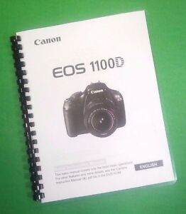 laser printed canon eos 1100d basic instruction 84 page owners rh ebay com canon eos 1100d instruction manual pdf canon eos 1100d instruction manual