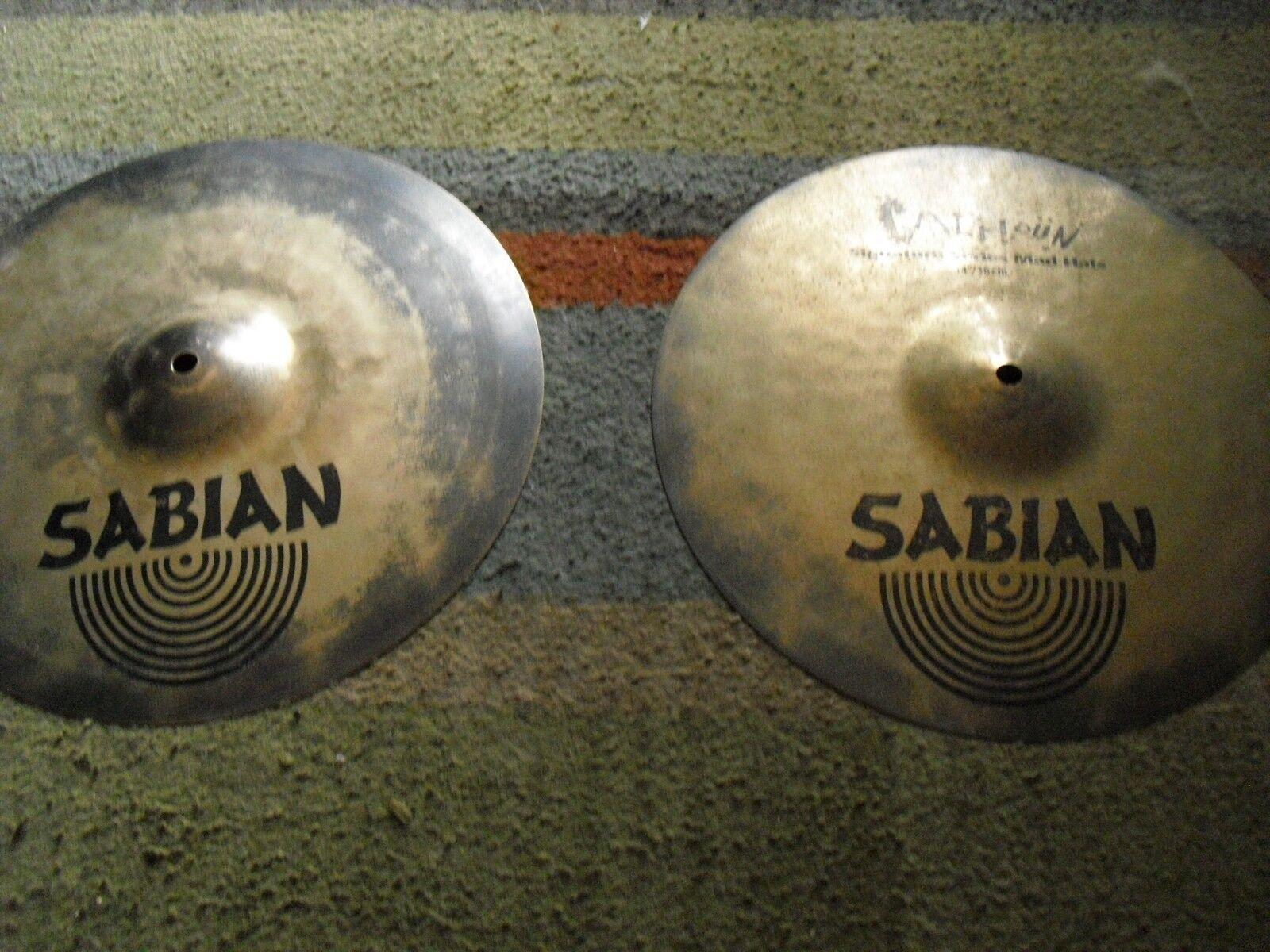14  Sabian Will Calhoun Signature Mad Hats HiHats Cymbals Hi