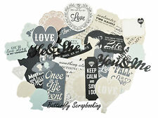 Wedding Blue Collection Scrapbooking 50 Die Cuts Collectables Kaisercraft NEW