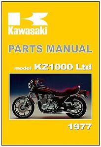 kawasaki parts manual z1000 ltd kz1000 kz1000 b1 1977 replacement rh ebay com 2005 Z1000 Kawasaki Ninja ZX-14