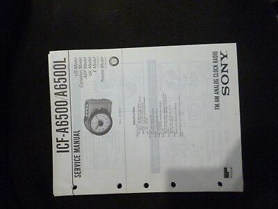 Anleitungen & Schaltbilder Original Service Manual Sony Icf-a6500 A6500l