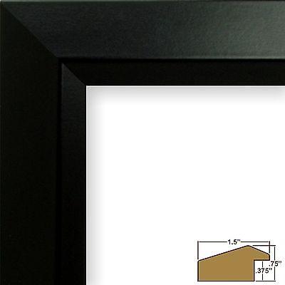 "Craig Frames Balla, 1.5"" Modern Satin Black  Picture Frame"