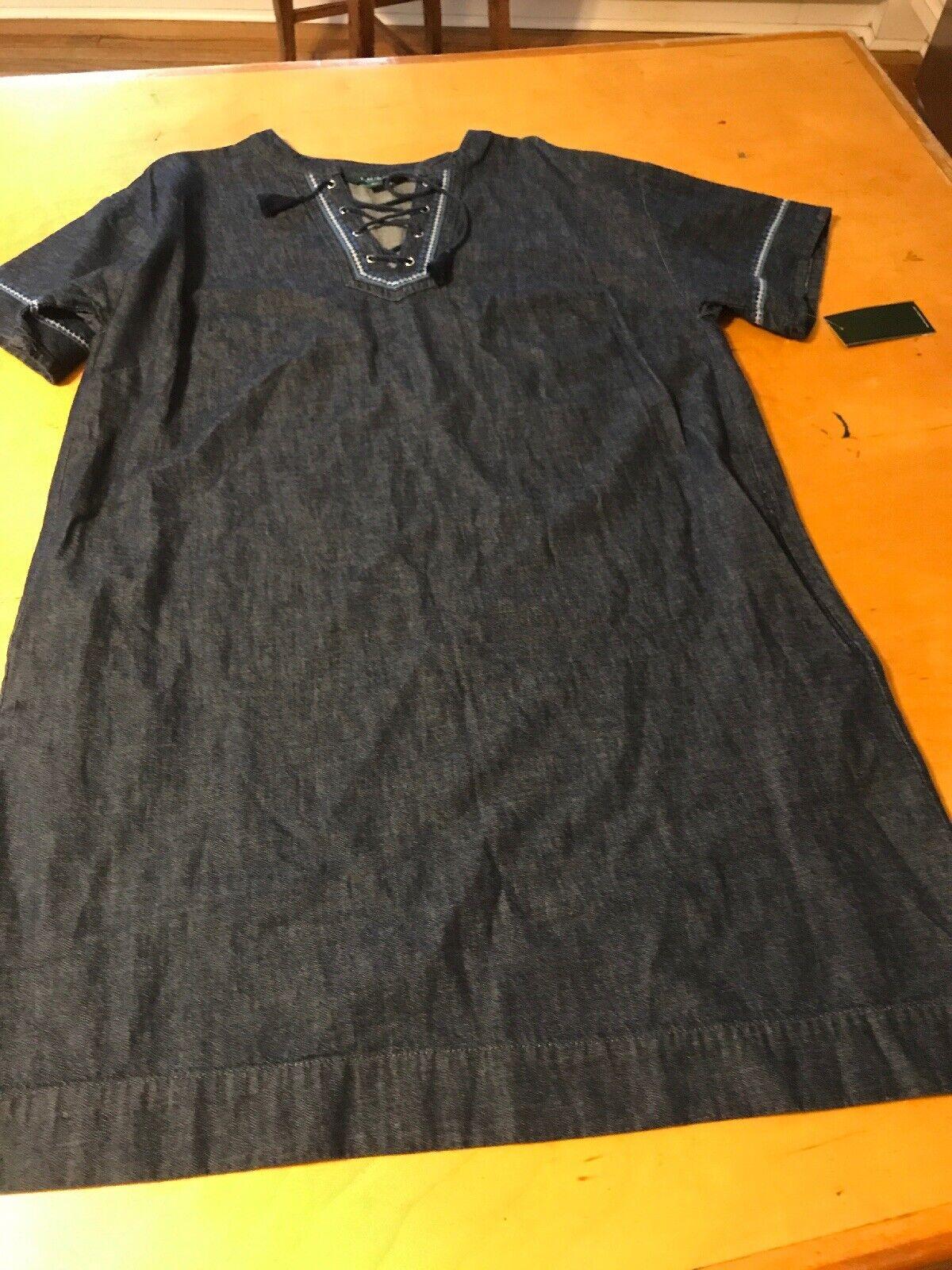 155 Women's Lauren ralph Lauren  plus Denim  dress  size 20W B76