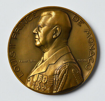 Angemessen Medaille Bronze 195 G Monaco Louis Ii. 25. Jubiläum Pierre Turin 1944 Dm 7,1 Cm Modernes Design