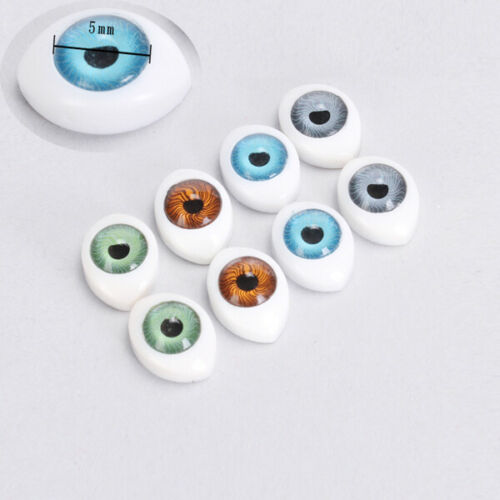 4 Color 8pcs Oval Hollow Plastic Doll Eyes Doll Mask Making 5//6//8//9//10mm For BJD