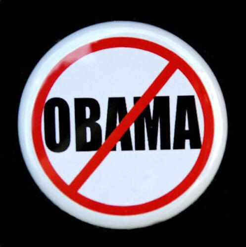 "NO OBAMA Button Pinback Badge 1.5/"" Anti Obama Political"
