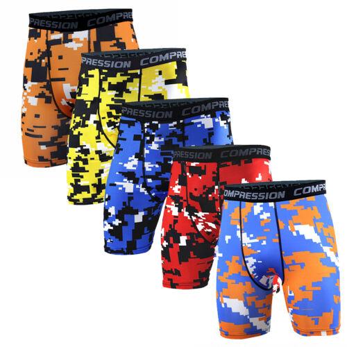 Men Cycling Jogger Pants Compression Base Layers Tights Short Pants Stretchy Hot