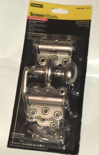 Stanley Screen Door and Storm Door Kit Set Satin Nickel Finish S838-896 V1771