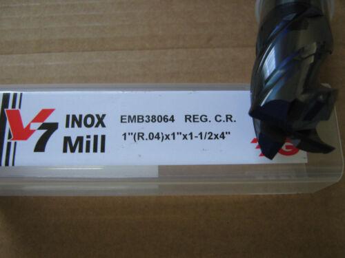 "1/""x1 1//2/""LOCx4/""OAL W//.04R V7 4FLT Carbide End Mill YG-1 Aitin coat /""NEW/"""