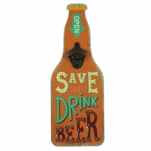 Save Water HM1126 Shabby Vintage Retro Style Beer Bottle Opener Gift For Him