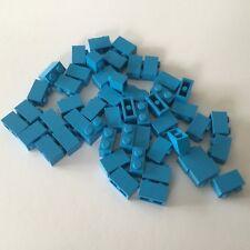 30 x LEGO® 3004 City Bausteine 1x2 Noppen in hellblau Neuware Basisstein