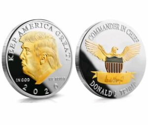 US-President-Donald-Trump-2020-KEEP-AMERICA-GREAT-Silver-amp-Gold-Eagle-Coin-TKL