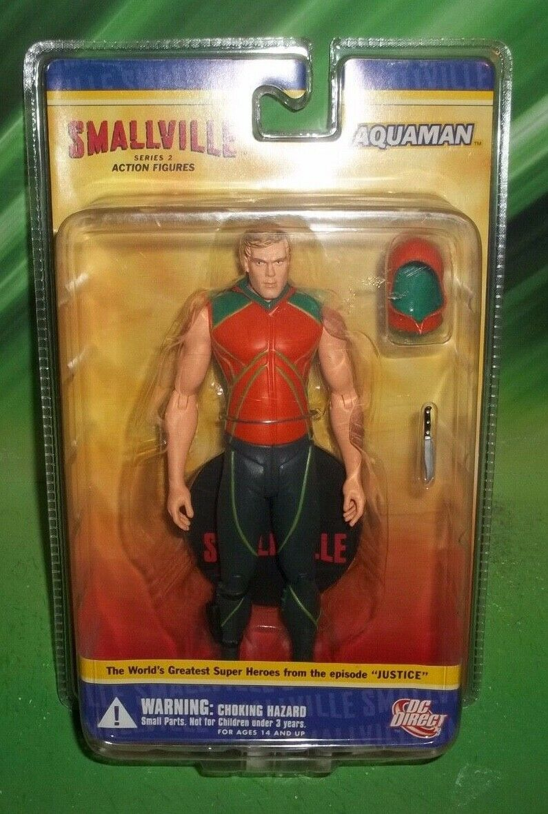 DC DIRECT COLLECTIBLES SMtuttiVILLE TV SERIES JUSTICE EPISODE AQUAuomo  cifra