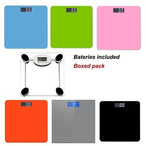 180KG-ELECTRONIC-DIGITAL-LCD-GLASS-WEIGHING-BODY-WEIGHT-SCALES-SCALE-BATHROOM