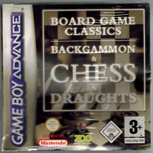 Game Boy Advance Baord Game Classics Backgammon Chess Draughts
