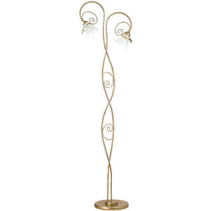 Designer Stehleuchte Barock Stand Bogen Lampe Retro Salon LED E14 ...