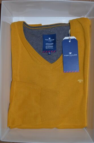 Tom Tailor Modischer Pullover V-Ausschnitt in messing