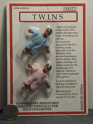 Dollhouse Miniature Doll Baby Twins Set 1:12 inch scale D24 Dollys Gallery