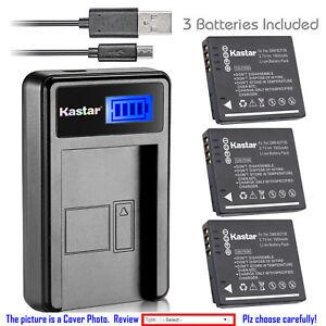 Kastar Batería Cargador LCD Para Panasonic DMW-BCF10 y Panasonic Lumix DMC-TS4