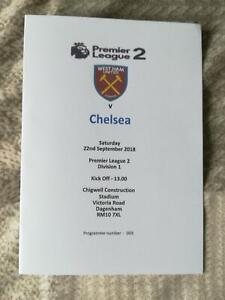 WEST-HAM-UNITED-v-CHELSEA-22-09-18-U23-PREMIER-LEAGUE-2-DIVISION-1-PROGRAMME