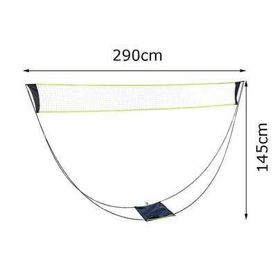 Portable Outdoor Foldable Badminton Tennis Volleyball Net Stand Set Beach Sport