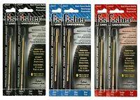 6 Fisher Space Pen su Universal Ink Refill Pack / 2 Of Each Color