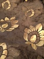 Curtain Fabric Prestigious Quality Heavy Chenille Chocolate Gold 11 Metre Roll