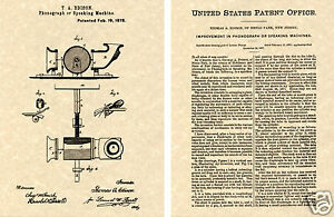THOMAS-EDISON-PHONOGRAPH-Patent-Art-Print-READY-TO-FRAME-1878-Alva