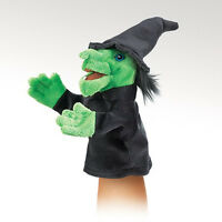 Little Witch Folkmanis Hand Puppet 2984 Pretend Play Imagination Camp Gift Toy Toys