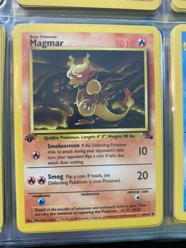FIRST Ed 39//62 MAGMAR Uncommon NM+ Fossil Set Pokémon Card