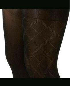 9c60a624d27f1 Anne Klein Size Small/Medium Women's Argyle Patterned Knit Tights 2 ...