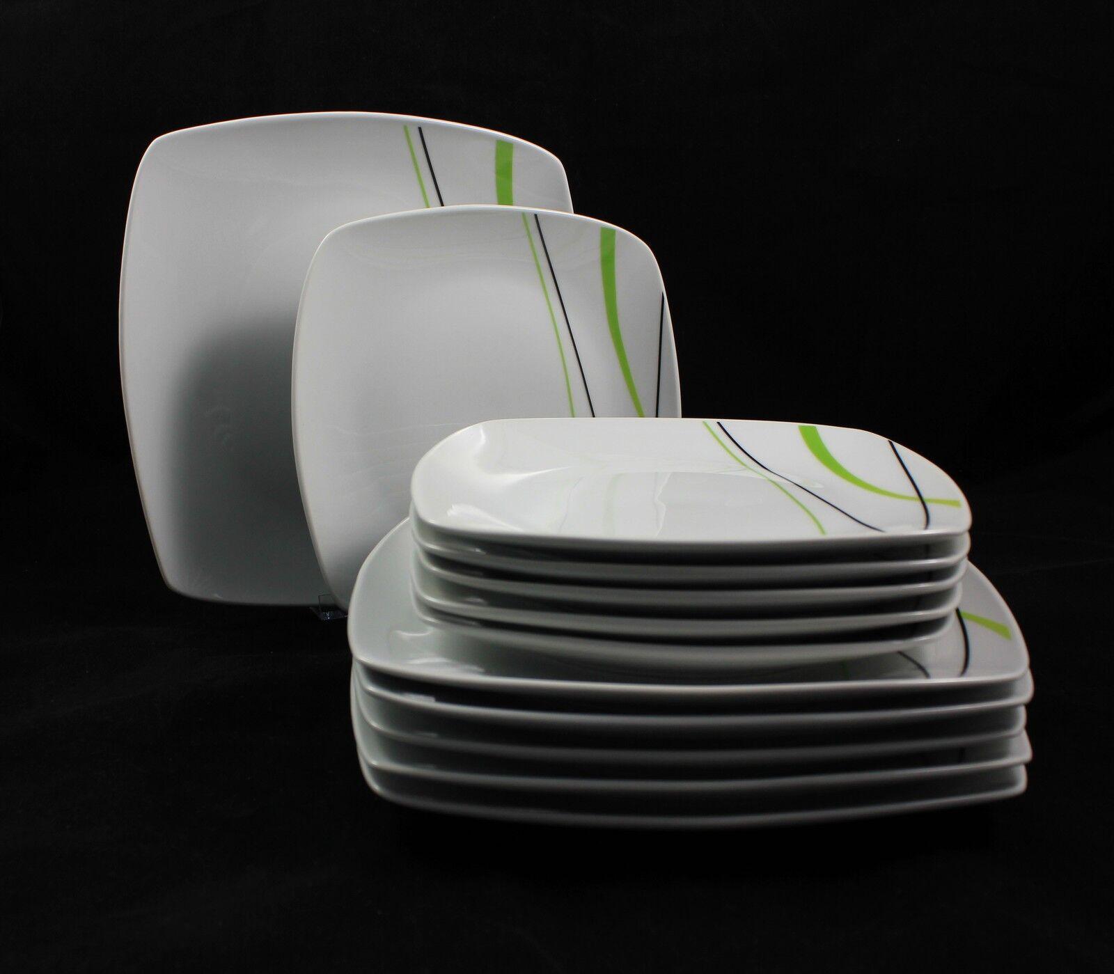 Porcelaine de Table Service vaisselle 24tlg  Spring Wave  pour 12 Personne