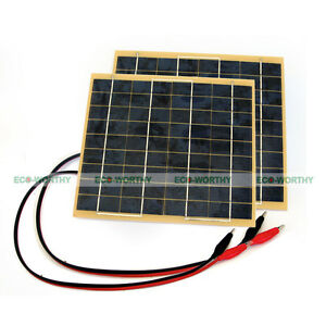 10w panneau solaire 2pcs 5watts solar panel for 12 volt home car battery charger ebay. Black Bedroom Furniture Sets. Home Design Ideas