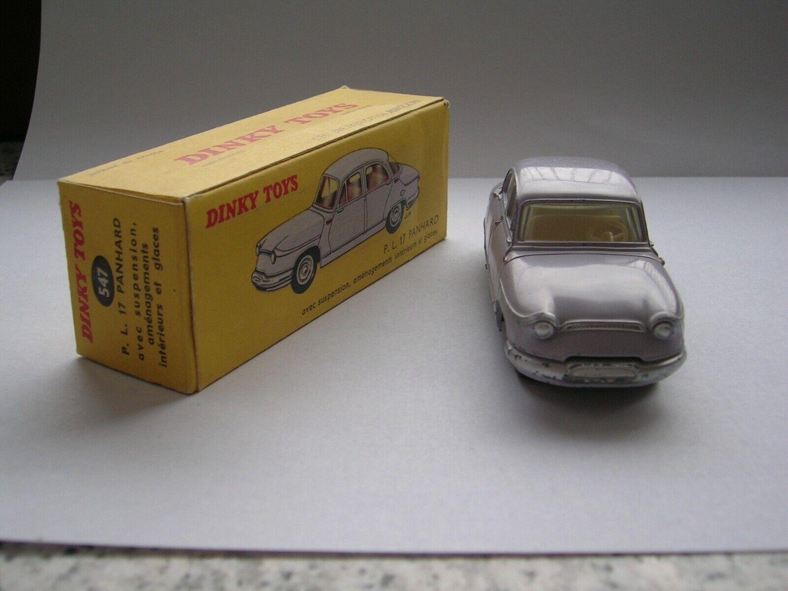 Dinky Toys Francia P.L.17 Panhard Excelente Estado En Caja, Envío Gratis Intl