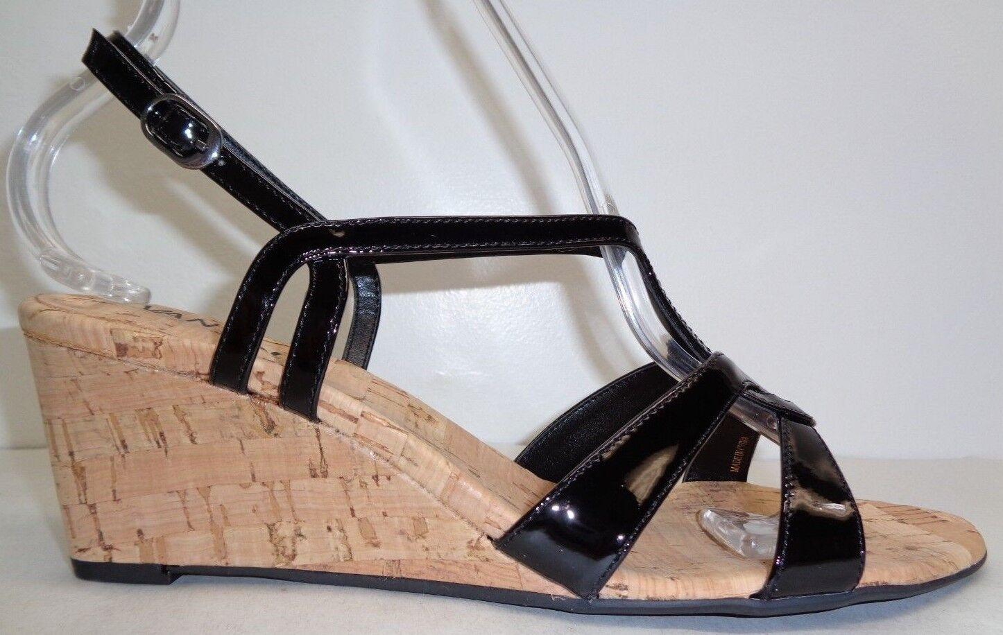 VANELI Matty Charol Negro Cuña Tacón Sandalias nuevo Zapatos para mujer