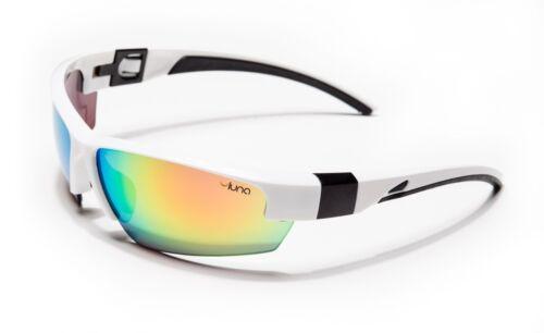 Luna Mercury Running Cycling Sunglasses Hard Case Mirrored Lenses White//Black
