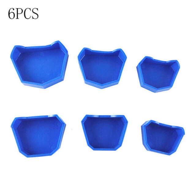 6PCS/Set Dental Lab Plaster Model Former Base Mold Mould Blue Color with POY