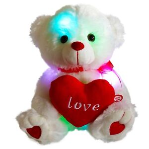 Valentines Day Teddy Bear Led Color Changing Plush Ebay