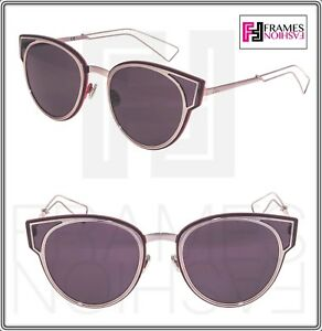 d15ab089b CHRISTIAN DIOR SCULPT Lilac Mirrored Red Cat Eye Metal Sunglasses ...