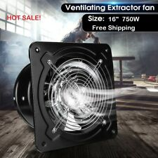 750w Industrial Ventilation Extractor Fan Axial Exhaust Commercial Air Blower