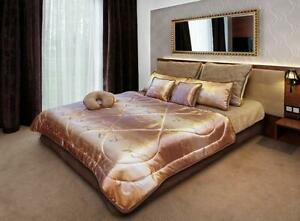 Promotion-premium-gold-literie-100-laine-merinos-laine-amp-satin-parures-couette-oreillers-45x75
