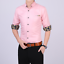 Business-Office-Work-Men-Casual-Stylish-Slim-Fit-Short-Sleeve-Shirt-Tops-Blouse thumbnail 8