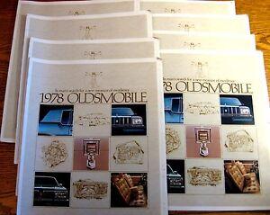 1978-Oldsmobile-Auto-Show-Brochure-Lot-10-pcs-Cutlass-Delta-88-98-Toronado