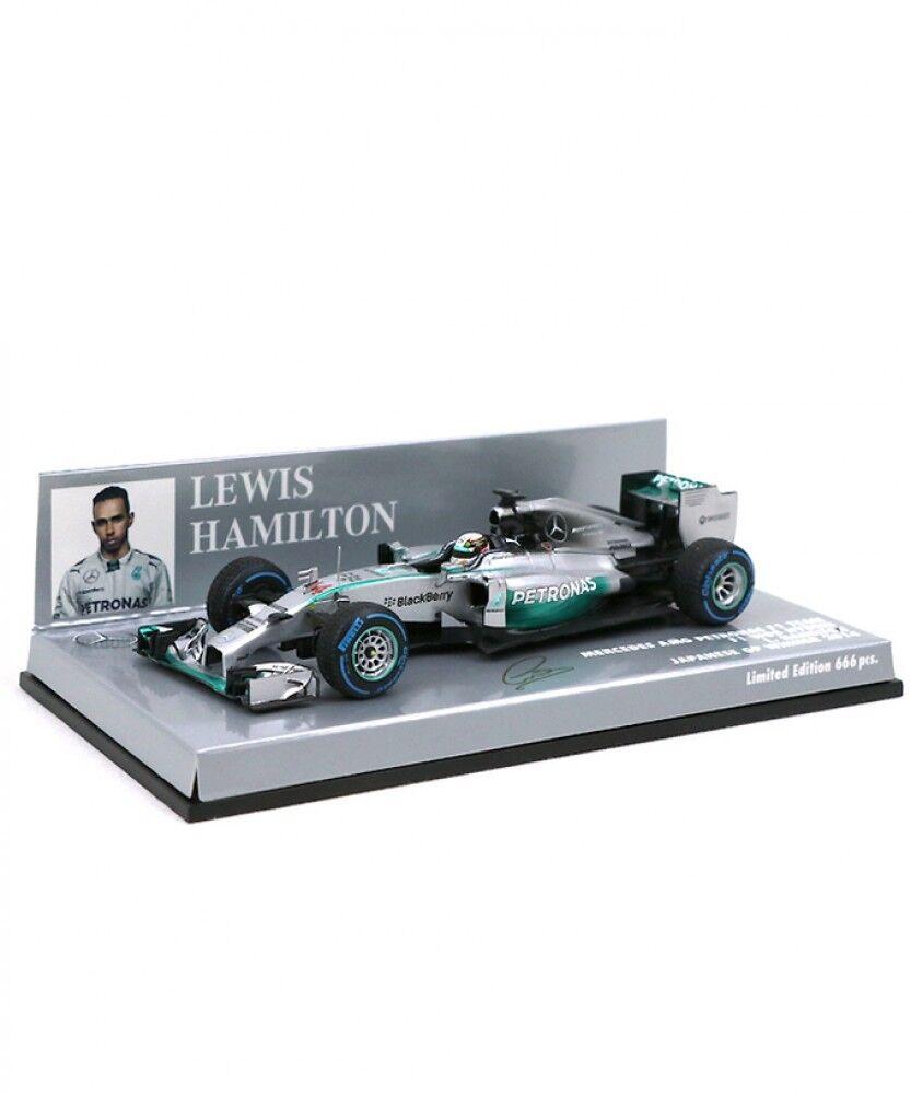 Neuf Minichamps 1 43 Mercedes AMG Petronas F1 Team W05 L. Hamilton 2014 Japon GP
