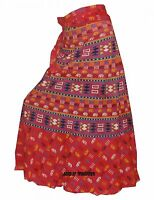 Indian Women Ethnic Animal Print Rapron Printed Cotton Long Skirt Wrap Around U9