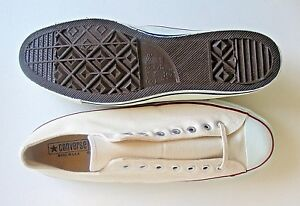 Vintage 70s USA Converse Chuck Taylor All Star Shoes White Oxford Sneakers 13.5
